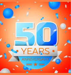 Fifty years anniversary celebration vector