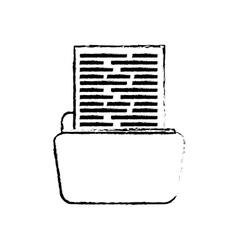 Folder business document vector