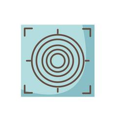 Gun sight circle with shooting focus vector