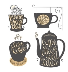 Hand lettering design for coffee shop restaurants vector