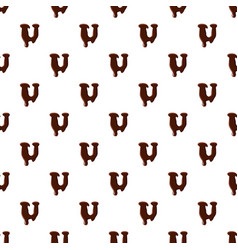 Letter u from latin alphabet made of chocolate vector