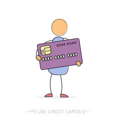 Man with credit card vector