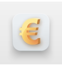 Money icon Symbol of Gold Euro vector image vector image