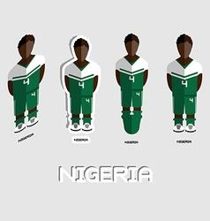 Nigeria soccer team sportswear template vector