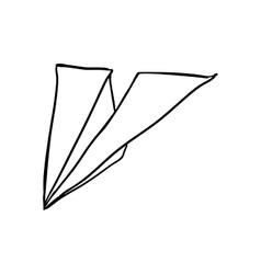 Paper plane icon creative design graphic vector