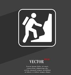 rock climbing symbol Flat modern web design with vector image