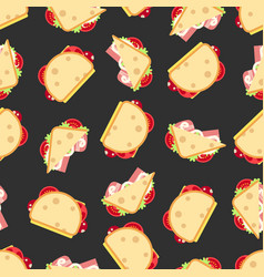 Sandwiches seamless pattern- fast food seamless vector