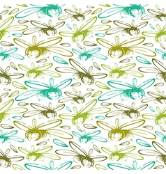 Seamless pattern with the image of olives color vector