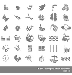 Spa and sauna beauty set vector image vector image