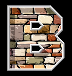Stone letter b vector
