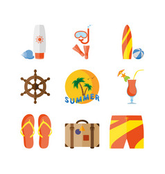 Summer holidays beach vacation vector