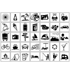 Vacation and Holiday Icons vector image