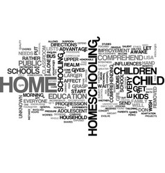Why home school text word cloud concept vector
