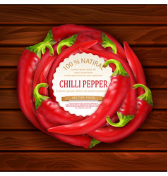 with red hot chili pepper placed in a circle vector image vector image