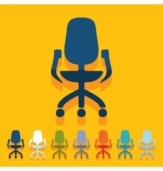 Flat design office chair vector