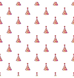 Party hat pattern cartoon style vector