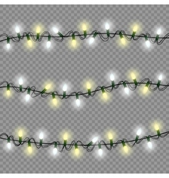 Christmas lights luminous garland isolated vector