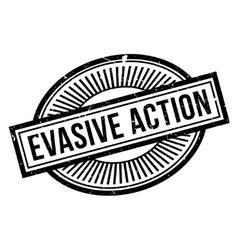Evasive action rubber stamp vector