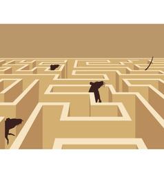 Rat maze vector image