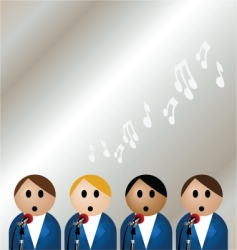boy band vector image