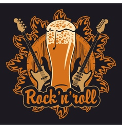 Beer and rock and roll vector
