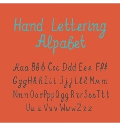 Hand lettering alphabet vector