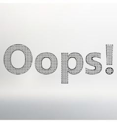 Inscription - oops vector