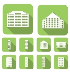House flat icons set vector