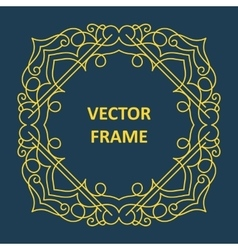 Vintage frame for your text vector
