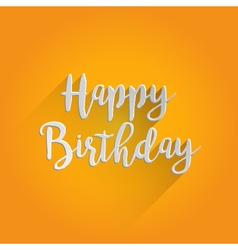 Happy birthday lettering design vector