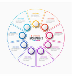 9 parts infographic design circle chart vector image vector image
