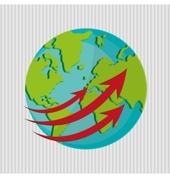 Planet design world icon flat vector