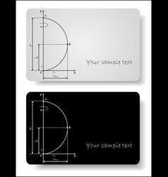 abstract cards vector image vector image