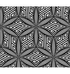 Abstract op art zigzag seamless pattern vector