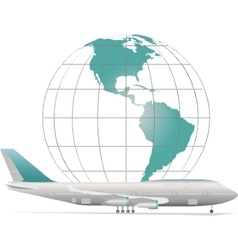aircraft with model of Earth vector image vector image