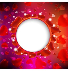Background From Red Hearts vector image