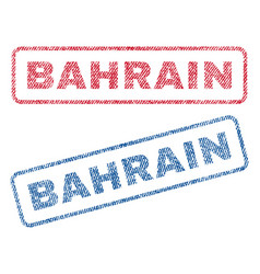 Bahrain textile stamps vector
