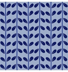 Blue seamless floral pattern handmade vector image vector image