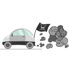 car pollution vector image