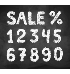 Chalk drawn numbers vector image vector image