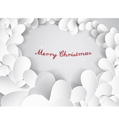 Christmas silver background with leafs and Merry vector image vector image
