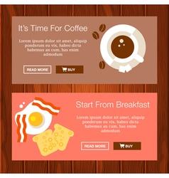 Coffee breakfast banners vector