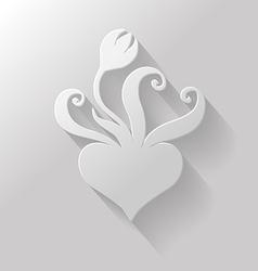 flat tulip vector image vector image
