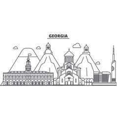 Georgia architecture line skyline vector