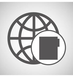 Global digital network file design vector