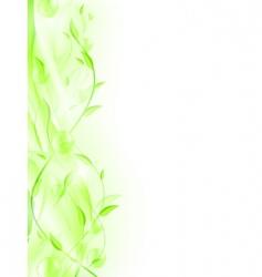 green leaf frame vector image vector image