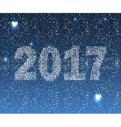Happy New 2017 vector image