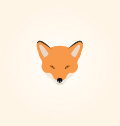 head of a fox vector image