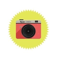 Hipster film camera vector