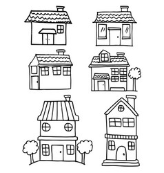 House style set hand draw vector